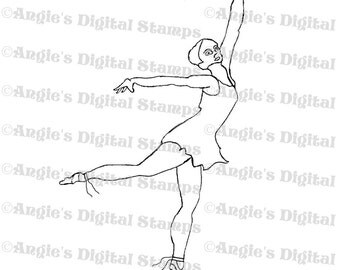 Ballerina Digital Stamp Image