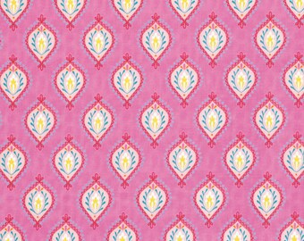 Dena Fishbein Design's - LITTLE AZALEA - Peony - Pink - Cotton Fabric - 1 yard