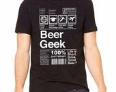 Beer Geek, Craft Beer Shirt, Beer Snob, Graphic Tee for Beer Enthusiast, Homebrewer, Gift for Christmas, Beer Lover Gift, Beerfest, Beer Tee
