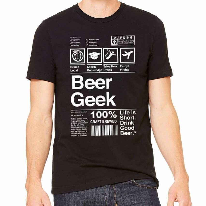 Beer geek craft beer shirt beer snob graphic tee for beer for Craft brewery t shirts