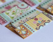 SALE -Mini Cards n Envelopes - Set of 6 - Paisley Bohemian Design with Fushcia, Yellow, Orange, Teal, Aqua - Colorful