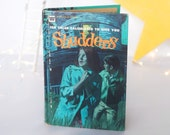 "Book, ""Shudders"" horror short stories, ghost, suspense, Ross R. Olney, vintage 1972 Whitman Classic, H.G. Wells, Halloween decoration, aqua"