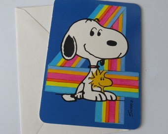 Vtg 80's Snoopy ~ Happy Birthday ~ Today Your 4