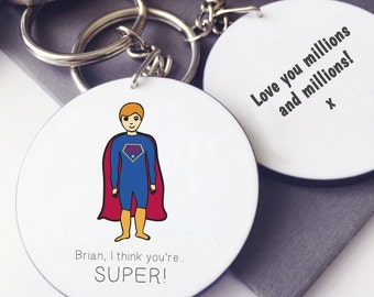 Superhero Message Keyring
