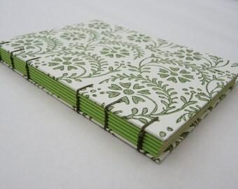 Florentine notebook A6 - Green flowers