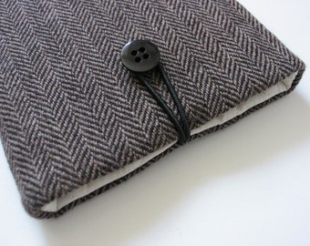 Kindle Paperwhite cover Kindle cover Kindle case case sleeve cover case herringbone men man brown black fabric tweed hipster elegant stylish