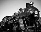 As Seen in Pottery Barn Kids Catalog, Train Room Decor, Black and White Photo, Old Train Photo