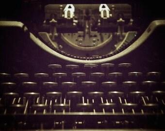 Digital Photography, Vintage Typewriter Keys, Old Typewriter, Office Wall Decor