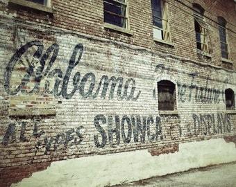 Alabama Fixture Ghost Sign, Industrial Art Photography, Urban Decor, Retail Art