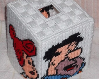 Flintstone Tissue Box Plastic Canvas Pattern