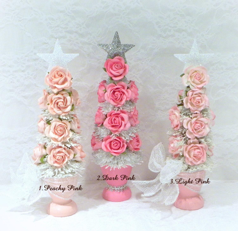 #A2293B Décoration De Noël Arbre Rose Shabby Arbre De Noël Table 5509 decorations de noel shabby 1500x1452 px @ aertt.com