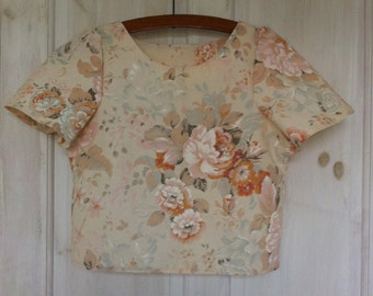 Up-cycled, unique handmade size small (S/8-10) top