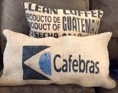 Rustic Designer Coffee upcycle bag pillow