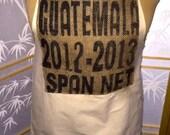 Upcycled coffee bag apron
