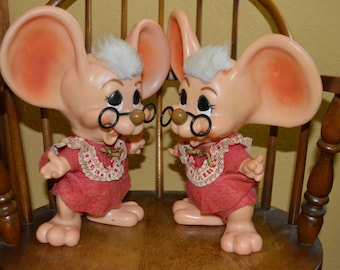 Christmas Mouse Banks-Pair-Roy Des of Fla. 1970