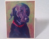 Black Labrador greeting card