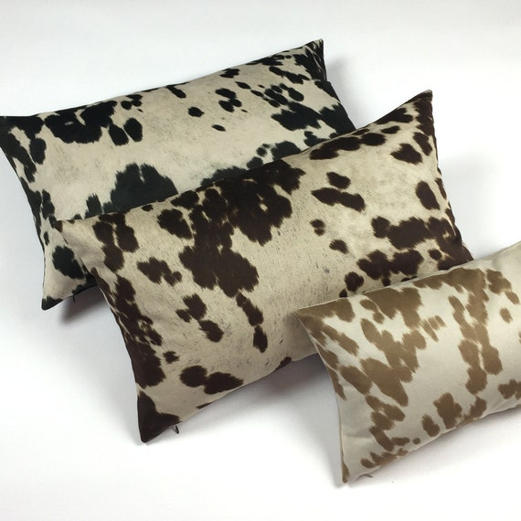 Reversible Animal Pillow : Cow Abunga Black Reversible Pillow Cover by ChloeandOliveDotCom