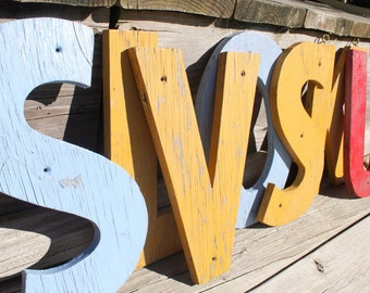 Cottage Chic Chippy Wood Sign Letters