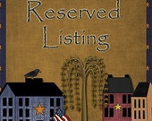 Reserved listing for Kristie