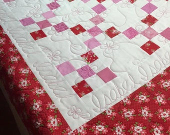 Twin Patchwork Quilted Bedding, Made To Order, Custom Twin Quilt