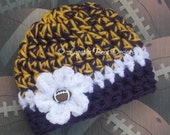 NEW Minnesota Vikings inspired baby hat - sports prop - photography prop - chunky baby hat -  photo prop - baby gift
