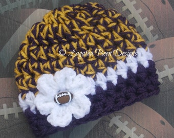 Minnesota Vikings inspired baby hat - sports prop - photography prop - chunky baby hat -  photo prop - baby gift
