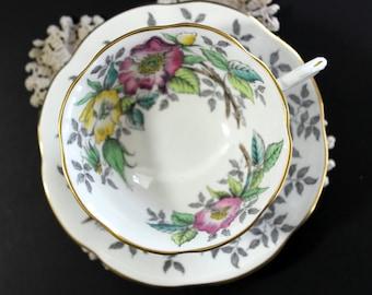 Rosina Tea Cup, Vintage Cup and Saucer, English Bone China, Vintage Teacups 13101