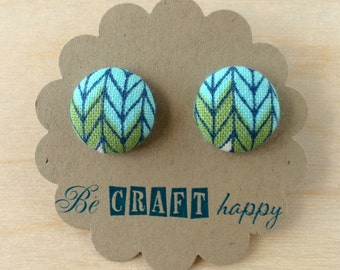 Fabric button earrings - Knitted Stitch