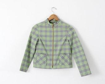 SALE 1960s plaid crop jacket