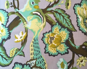 Chipmunk in mint, Chipper Collection by Tula Pink for Free Spirit Fabrics 1/2 yd