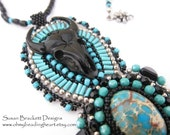 Beaded Bison Necklace SALE