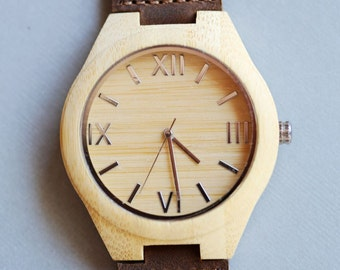 Personalized Wooden Watch,Wood Watch, Groomsmen Gifts, Mens Birthday Gifts, Wedding Gifts, Anniversary Gifts, Father's Day Gifts, Husband