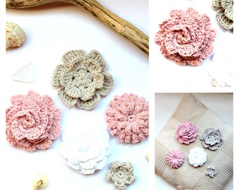 5 crochet Flowers to decorate