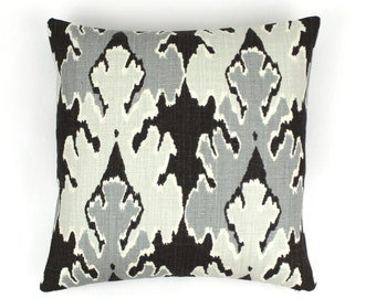 Kelly Wearstler (Both Sides) Bengal Bazaar Pillows (Shown in Graphite-comes in 6 colors)