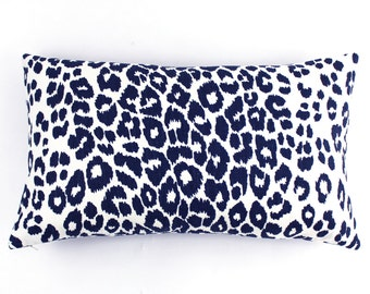 Schumacher Iconic Leopard Pillow Both Sides (Shown in Ink - comes in 11 colors)