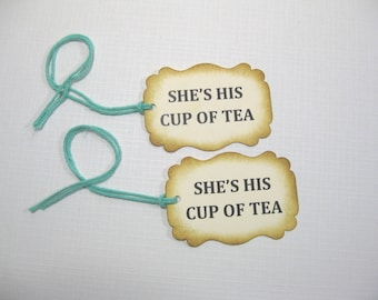 10 Thank You Favor Tags - Wedding Favor Tags -  Bridal Shower Tags - Tea Party Tags - Party Favors