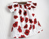 Red Poppy toddler and girls boutique peasant dress