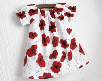 Red Poppy Baby boutique peasant dress