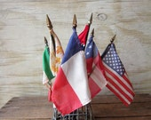 Collection of Small Vintage Flags