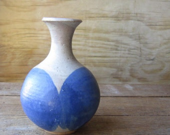 Handmade Vase Studio Pottery - Flower Pot - Artist Signed