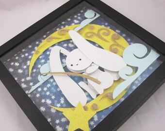 Sweet Dreams Papercraft Shadowbox Art