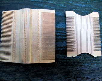 Sandalwood Combs for Lice from South India-Pair