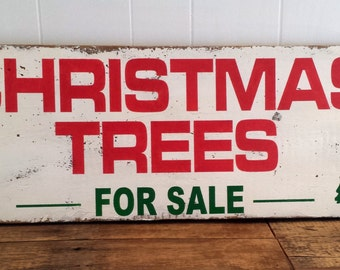 Christmas trees for sale sign | Etsy