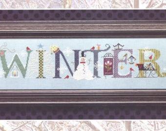 WINTER Cross Stitch Pattern -  Cross Eyed Cricket Winter Snowman Counted Cross Stitch Pattern - Snowflakes Sleigh Cardinal Cross Stitch