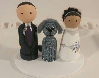 Cake Cuties- Custom Wedding Cake Toppers, plus one Animal Friend