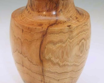 Bird Pecked Hickory Wood Vase