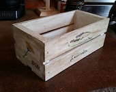 Hand painted mini crate