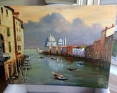 Oil on Canvas Painting of Venice Scene