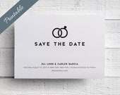 Modern Save the Date Printable