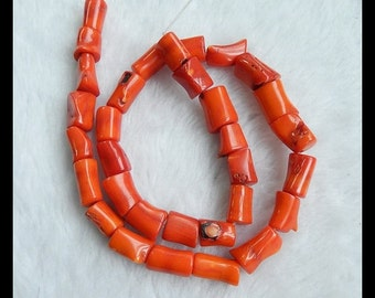 Bamboo Coral Loose Beads,1 Strand,40cm in the Lenght,12x8mm,64.8g